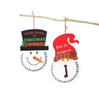 クリスマスの装飾ペンダントクリエイティブ漫画サンタクローススノーマンカウントダウンカレンダークロッククリスマスツリーフェルトカレンダーペンダント50ピース無料DHL HH21-724