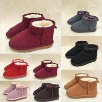 Brand Children Shoes Girls Boots Inverno caldo caviglia Bambino ragazzi Bot Scarpe Bambini Stivale Stivale Stivale Bambini Peluche per bambini