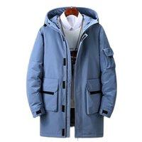 90% anatra bianca piumino in piumino lungo caldo con cappuccio puledro cappotto maschio casual di alta qualità soprabito invernale antivento esterna cappotti esterni