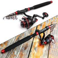 Boat Fishing Rods 1.8m-3.0m Carbon Fiber Rod Portable Spinning And Reel Set Vara De Pesca Com Molinete