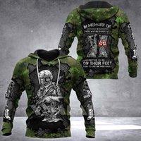 Men's Hoodies & Sweatshirts CANADA-IN-MEMORY ARMY Solidier 3D Print Hoodie Spring Autumn Man Women Harajuku Outwear Hooded Pullover Tracksui