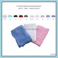 Textiles Home & Gardeby Blanket 100% Cotton Embroidered Baby Quilt Monogrammable Air Conditioning Blankets Infant Shower Gift 10 Designs Who