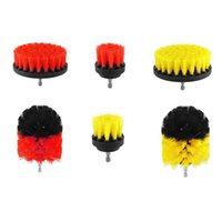 Professional Hand Tool Sets 3Pcs 2 3.5 4 Inch Wheel Brush Car Washing Drill Brushes For Rims Wash Bathroom Tub Shower Floor Auto Cleaning