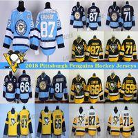 Pittsburgh Penguins Jersey 87 Sidney Crosby 71 Evgeni Malkin 58 Kris Letang 68 Jaromir Jagr 59 Jake Guentzel 66 Lemieux Hockey Jerseys