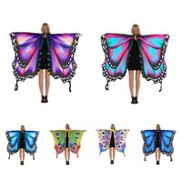 Scarves Butterfly Wings Shawl Halloween Costume Ladies Cape Scarf Soft Fabric Fairy Costumes Accessory Festival Rave Dress