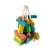 Natural madeira animal de estimação pássaro brinquedo parrot roer bauble mordida brinquedos brinquedos para médio grande hamster pássaro tokyo r jllebn yummy_shop