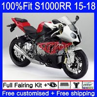 Glossy red black Injection Mold Fairings For BMW S 1000RR S1000-RR S1000RR 15 16 17 18 Bodywork 2No.1 S 1000 RR S-1000RR S1000 RR 2015 2016 2017 2018 100% Fit OEM Bodys kit