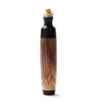 Golden Silk Bamboo Large-capacity Snuff Bottle with Spoon Wooden Crafts Snuff Bullet Wooden Carvings Chinese Style Great Gifts GWE7453
