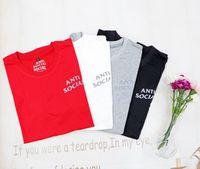여성용 Tshirt 짧은 소매 고품질 남성 탑 티셔츠 순수 면화 여름 편지 인쇄 힙합 스타일의 옷 태그 상자