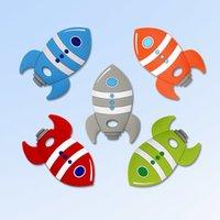 Kovict 5/10 pcs foguete de silicone bebê teether roedor bebê brinquedos brinquedos de animais mastigáveis produtos de enfermagem