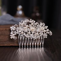 Hair Clips & Barrettes Pearl Flower Combs Hairpins For Women Girls Styling Side Comb Bridal Wedding Headpieces Accessories
