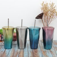 24 oz Personalized Starbucks Mugs Iridescent Bling Rainbow Studded Cold Cup Tumbler coffee Water Bottle with straw