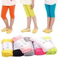 Ins Çocuk Kız Yoga Pantolon Streç Tayt Çocuklar Yumuşak Desenler Yoga Pantolon Ayak Bileği Uzunluğu Kızlar Güvenlik Pantolon Bebek Kısa Tayt KKA8342