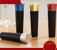 Крышка для пропуски многоразовый винный винный пробок вакуумный препарат без утечки бутылка уплотнитель силиконовые колпачки воздуха удаления отверстия- черный my-inf0497