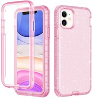 3 em 1 Clear Glitter iPhone Case para telefone 12 11 Pro Max resistente à prova de choque protetora tampa traseira com samsung s20 s21 mais ultra