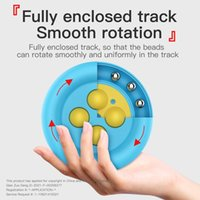 Children's Pioneer Infinite Circle High-speed Bead Fidget Poo-it Finger Fun Puzzle Decompression Toy Push Pop Bubbles Anti Stress Relief Board Game