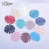 30pcs AB6022 32 * 36mm Monstera feuille de feuilles de lait en laiton feuilles pendentif bricolage bijoux boucle d'oreille accessoires