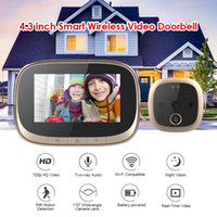 Home Security Camera Türklingel Smart IP Wifi Türklingel Video Intercom 720p 170 Grad Winkel Infrarot Nachtsicht