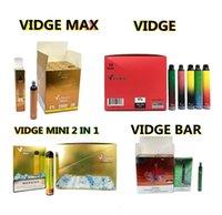 Vidge Max Mini 2 en 1 Bar Vape Vape E Cigarrillos Dispositivo de cigarrillos 950mAh Batería 3.0 + 3.0ml PODS 1000 + 1000 Puffs 5 colores con código de seguridad