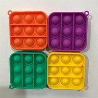 Камуфляж окрашивающий толчок поп пузырь брелок дети взрослый новин Fidge игрушка сумка подвески брелок цепочки цепи силиконовые ключи подарок подарок игрушки GG3308