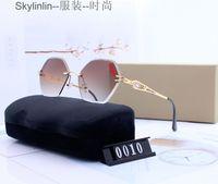 Polygonal Cut Edge Hexagonal Glasses Gradient Frameless with Inlaid Diamond Mens Luxury\u00A0designer Luxury designer Sunglasses for men luxurys bags
