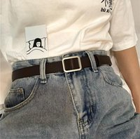 Прекрасная прямоугольная неффорированная простая женская мода декоративные джинсы пояс корейской литературы и искусство мягкое FA