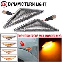 Superb LED Dinamik Dönüş Sinyal Yan Marker Işık Ford Mondeo MK3 2000-2006 Odak MK1 1998-2004 Oto Aksesuarları