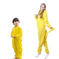Kigurumi pijamas adultos crianças matching roupas mãe crianças pano cosplay pijama família conjunto 210918