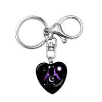 Двенадцать Constell Сердце Ключ Кольца Гороскоп Знак Очарование Брелок Держатели Сумка Висит Женщины Мужчины Мода Ювелирные Изделия будут и Сэнди
