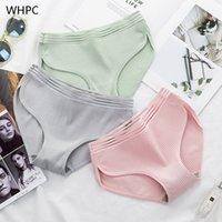 WHPC 100% algodón hueco rayado bragas bragas calzoncillos de la cintura baja suave hembra ropa interior - calzoncillos amigables Lady Intimates