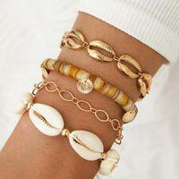 DiZi handgemachte böhmische natürliche shell webart armband sonnenblume charme kette armband armreif sets frauen strand schmuck