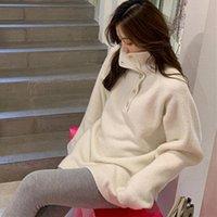 Женские свитера Colorfaith 2021 осень зимний трикотаж водолазки кнопка пуловер пуловер Корейский кондитерский кондиционер Элегантная леди Jumper SW1158JX
