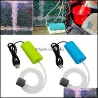 Air Aquarien Pet Supplies Home GardenAir Pumps Aasorten Aquarium Pumpe 5V ultra-leiser Fischtank Bubbler mit Stein Mini USB-Laden von Oxyg