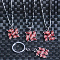 Pendant Necklaces Tokyo Revengers Necklace Anime Badge Stainless Steel Cool Choker Jewelry For Night Club Party Accessory Gift