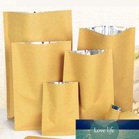 Flache Kraftpapierbeutel mit aluminisierter Innenheizdichtetasche Süßigkeit Getrocknete Nüsse Lebensmittel Tee DIY Geschenk Verpackungstasche 100pcs / lot