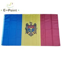 Moldova Flag National Country 3*5ft (90cm*150cm) Polyester Banner Decoration flying home & garden flags