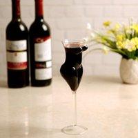قوارير الورك 201-300 مل الإبداعية كريستال مثير كأس الزجاج عارية أنيق النبيذ الأحمر الفودكا s ويسكي الأواني الزجاجية الشرب ل barware