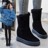 Fashion Warm and Cómodas botas para mujer 2020 Winter Winter New Full Bots Boots Bots Boots para aumentar las botas de combate de nieve para las mujeres Sexy U8PF #