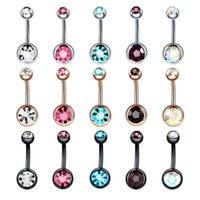 30PC Steel Belly Button Rings Navel Piercing Nombril Ear Piercings Navel Earring Gold Belly Piercings Body Jewelry Pircings .482 T2