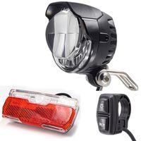 Bike Lights Electric Light Set With Horn Including Ebike Tail Both 12V 24V 36V 48V LED Control By Switch E