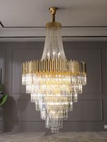 Large crystal chandelier in duplex building  hotel lobby engineering villa living room hollow