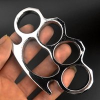 Fashion and r Black Thin Steel Brass Knuckle Dusters Self Defense Personal Security Women and Men