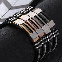 1 stück Allergiker frei 2021 Edelstahl Silikon Black Armband Geschenke Hochzeit 4 Farben Exquisite Anmutige Freies Verschiffen