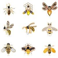 Pins, spille Regali d'api di strass alla moda per le donne smalto animale insetto spider spilla spilla pin bugs gioielli sciarpa clip broccia