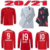 Top Quality20 / 21 Bayern Monaco di Baviera Municale Soccer Jersey 2020 2021Davies Camicia da calcio Muller Lewandowski Portiere uniforme per calcio per adulti