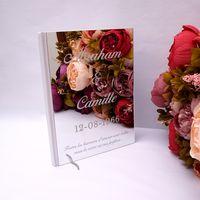 26cm x 19cm Custom Wedding Wedding Book White Branco Folha em branco Check In Signature Book Party Decor Favores Facilidades