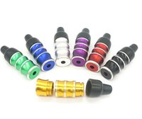 Portable Dry Herb Mini Bamboo Nipple Metal Smoking Pipe Handpipe Filter Mouthpiece Holder Removable Snuff Snorter Sniffer Tube Tips