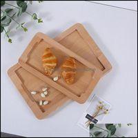 Блюда тарелки посуда кухня, обеденный бар Главная Гарденвудренный поддон MTI-размер круглый REC японская бука посуда чай набор пищевых продуктов