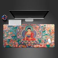 Mouse Pads & Wrist Rests Selling Cool Oriental Buddha Culture Mousepad High Quality Rubber Pad Game Computer Players Unique Gaming Mats