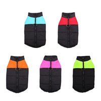 Dog Apparel Waterproof Pet Puppy Padded Cold Winter Warm Vest Jacket Clothes For Medium Large Dogs Blue